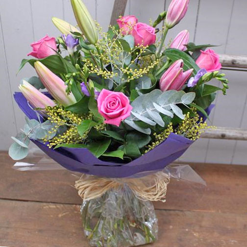 Rose, Lily and Freesia Bouquet