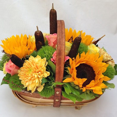 Sunflower Trug