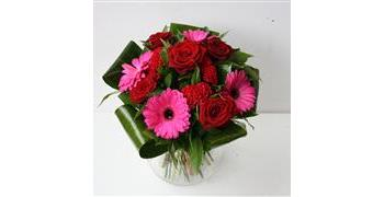 Gerbera and Rose Burst