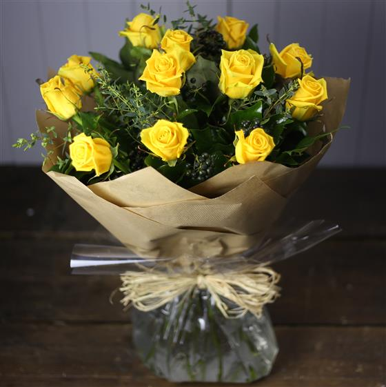A Rose Bouquet in Yellow